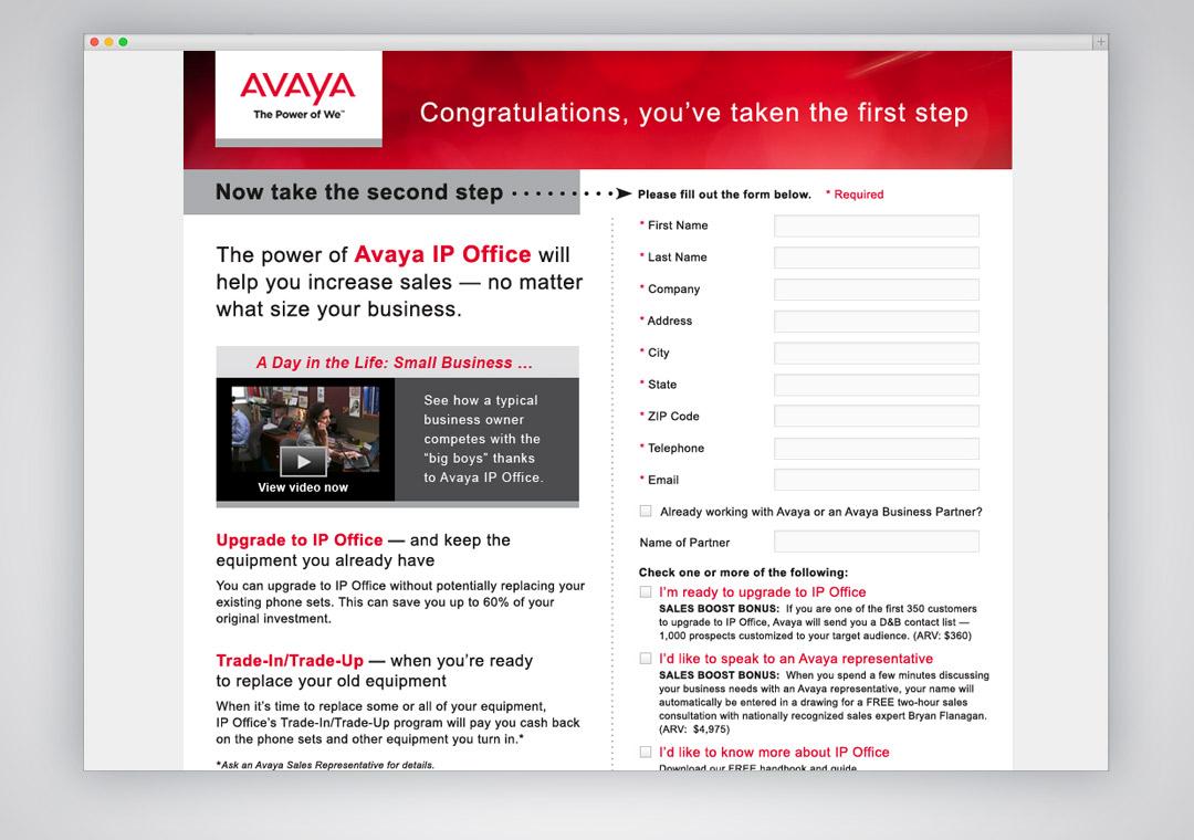 Avaya Email Form