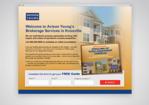 Avison Young Landing Page